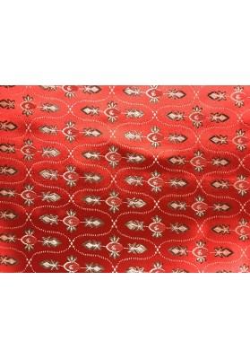 Żakard ornament czerwień - 4