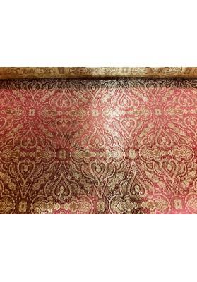 Żakard ornament złoto-czerwony - 2