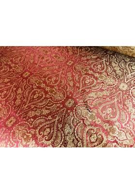 Żakard ornament złoto-czerwony - 3