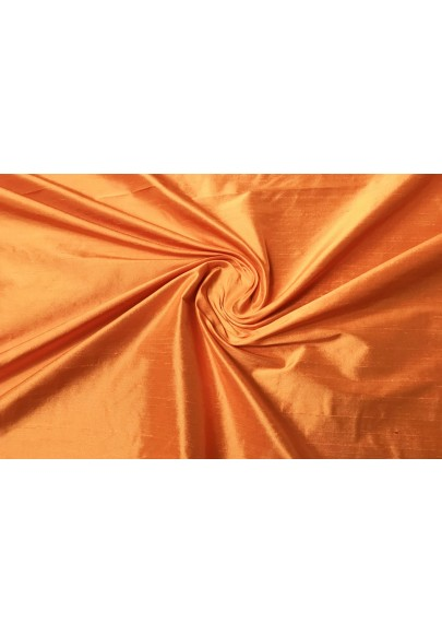 Szantung jedwabny pomarańcz - 0