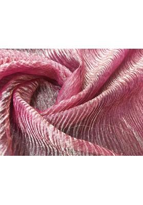 Organza jedwabna kresz róż - 0