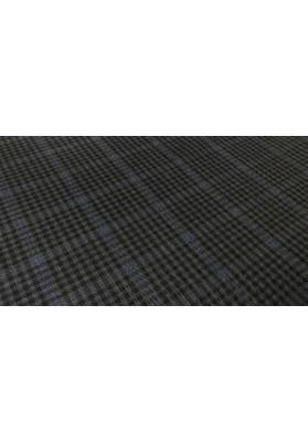 Wełna ubraniowa ciemna krata - 4