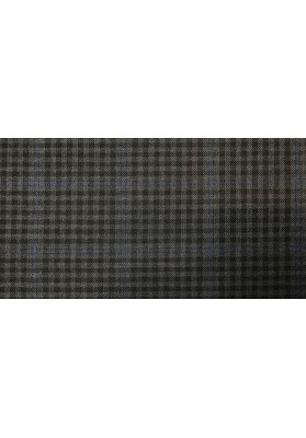 Wełna ubraniowa ciemna krata - 3