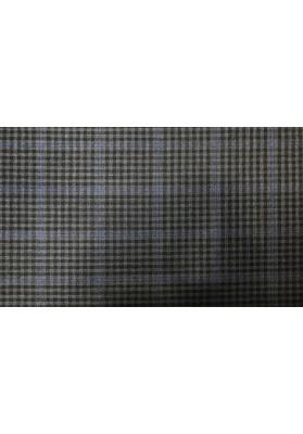 Wełna ubraniowa ciemna krata - 1