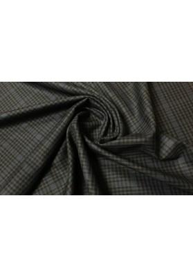 Wełna ubraniowa ciemna krata - 2