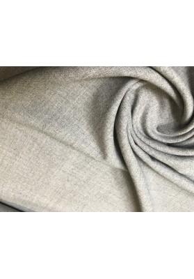 Wełna ubraniowa z elastanem jasny popiel - 0