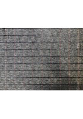 Wełna ubraniowa krata tweed - 0