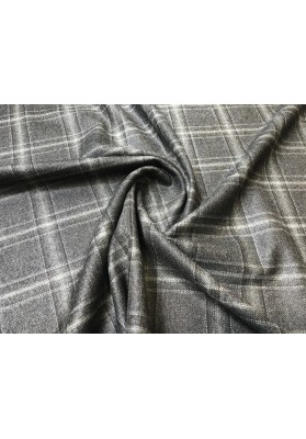 Wełna ubraniowa krata popiel - 0
