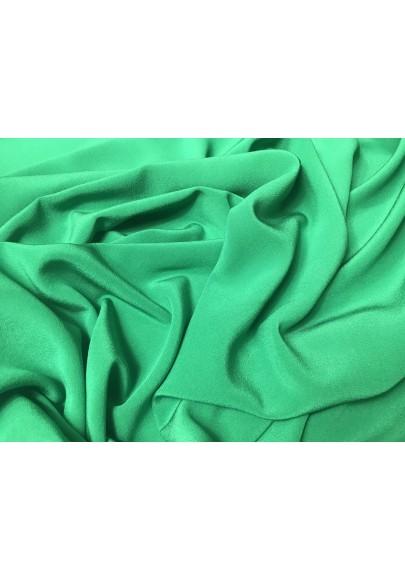Krepa jedwabna zieleń trawiasta - 0