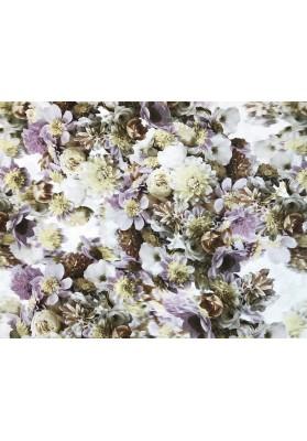 Krepa jedwabna delikatne kwiaty - 0