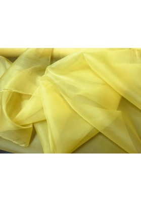 Organza jedwabna żółta - 0