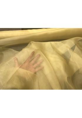 Organza jedwabna blady zółty - 0
