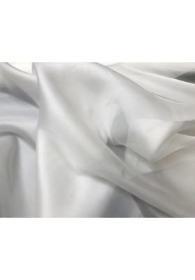 Organza jedwabna biała - 0