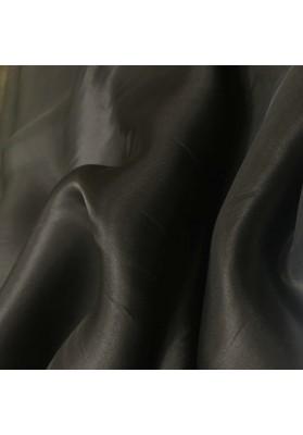 Organza jedwabna czarna - 0