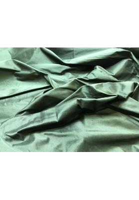 Szantung jedwabny butelkowa zieleń - 0