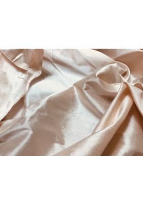 Szantung jedwabny jasny róż/losoś - 0