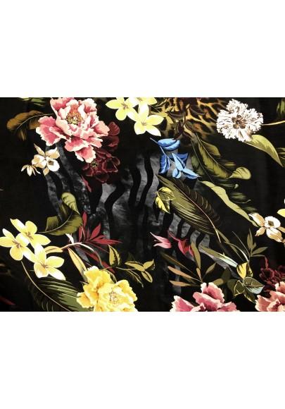 Cupro kwiaty na ciemnym tle - 1
