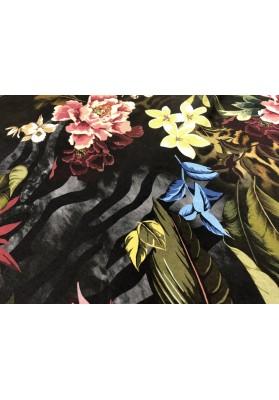Cupro kwiaty na ciemnym tle - 2