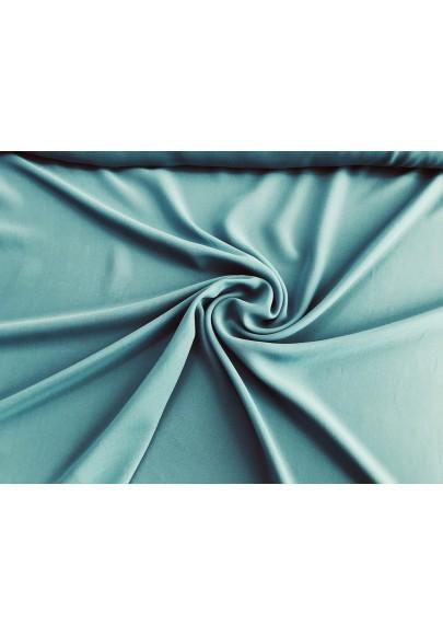 Szyfon jedwabny niebieski (morski) - 0