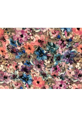 Wiskoza kwiaty mazane - 0