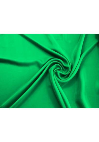 Muślin jedwabny z elastanem zielony - 0