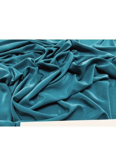 Krepa jedwabna cupro niebieski (morski) - 0