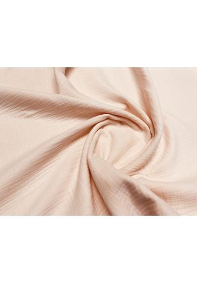 Muślin bawełniany łosoś/jasny róż - 1
