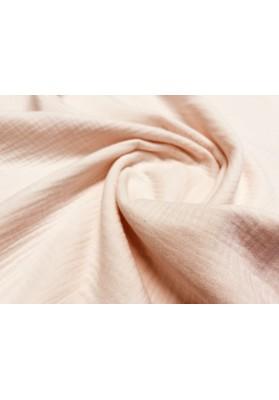 Muślin bawełniany łosoś/jasny róż - 2