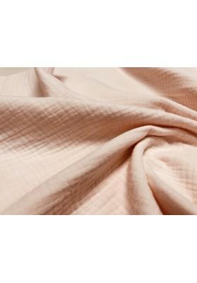 Muślin bawełniany łosoś/jasny róż - 3
