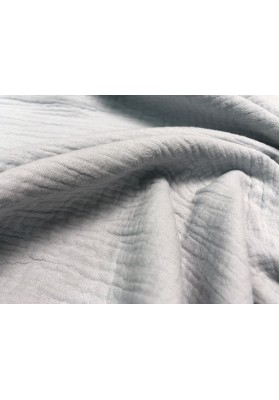 Muślin bawełniany jasny popiel - 3