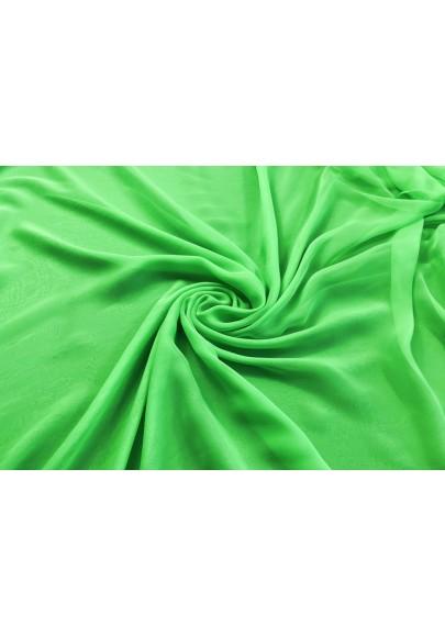 Muślin jedwabny intensywna zieleń - 1
