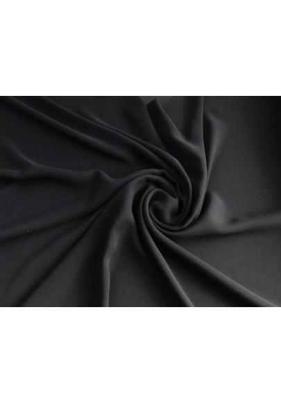Szyfon jedwabny czarny - 0