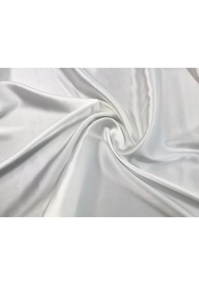 Satyna jedwabna z elastanem biała - 0