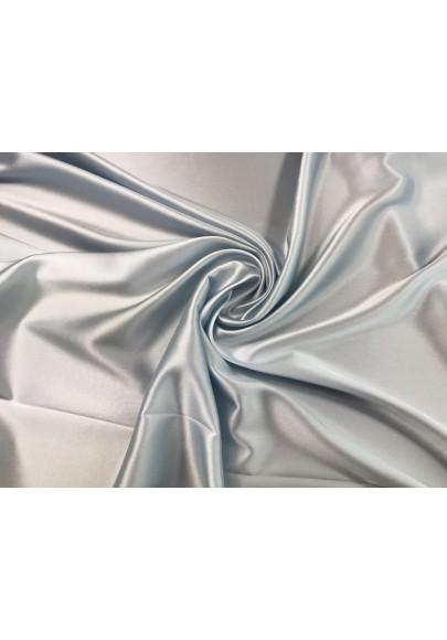 Satyna jedwabna z elastanem kolor gołębi - 0