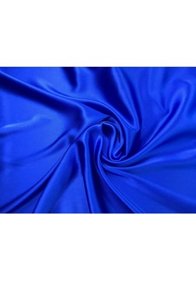Satyna jedwabna z elastanem kobalt - 0