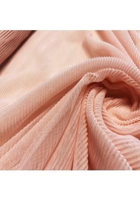 Tiul plisowany łosoś - 2