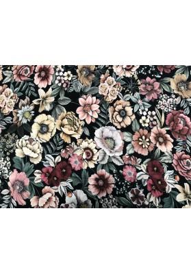 Wiskoza kolorowe kwiaty na...