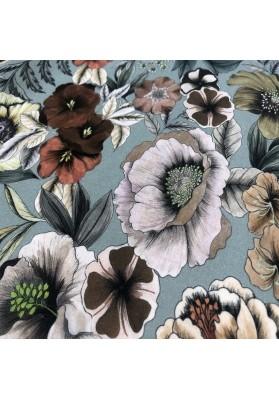 Wiskoza kwiaty na gołebim - 4