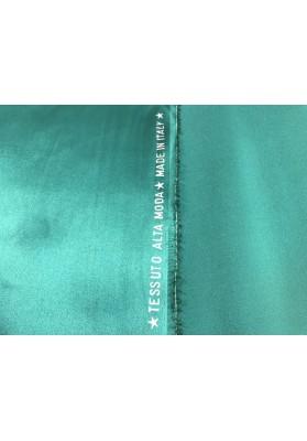 Satyna jedwabna z elastanem morski turkus - 0
