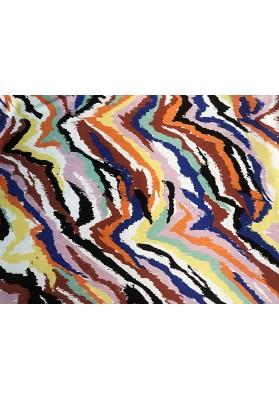 Satyna jedwabna kolorowy mazaj - 1
