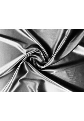 Satyna jedwabna z elastanem czarna - 0