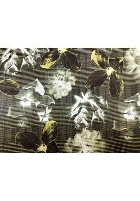 Satyna jedwabna duże kwiaty - 1