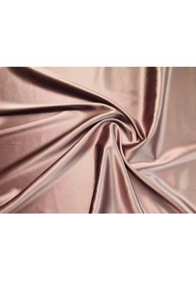 Satyna jedwabna z elastanem brudny róż - 0
