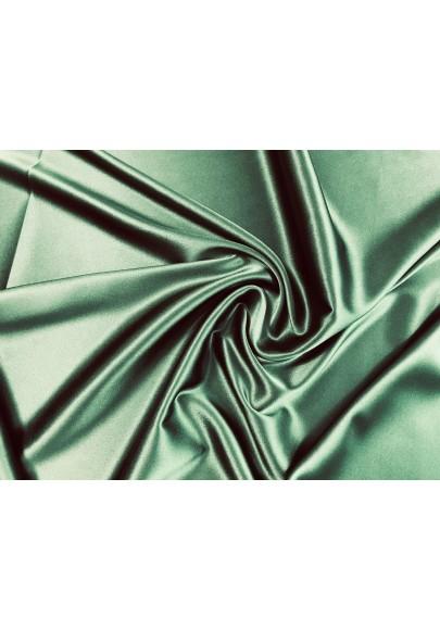 Satyna jedwabna z elastanem butelkowa zieleń - 0