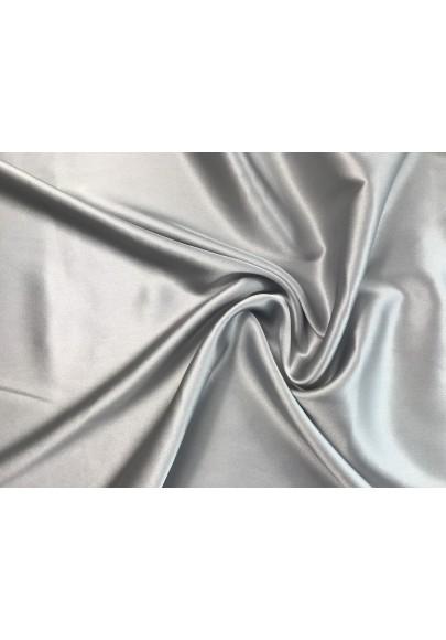 Satyna jedwabna z elastanem jasny popiel - 0