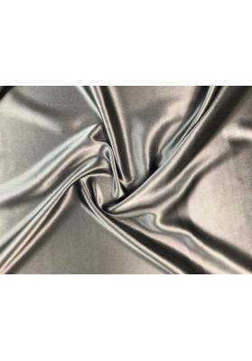 Satyna jedwabna z elastanem ciemny popiel (stalowy) - 0
