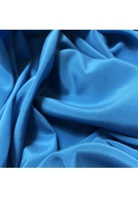 Krepa jedwabna niebieski morski z elastanem - 2