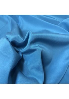 Krepa jedwabna niebieski morski z elastanem - 3