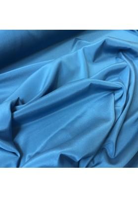 Krepa jedwabna niebieski morski z elastanem - 4
