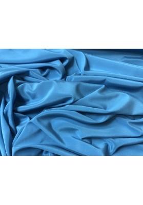 Krepa jedwabna niebieski morski z elastanem - 1